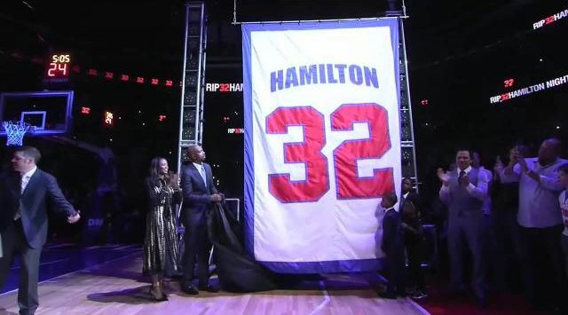 Rip Hamilton's Number Retired