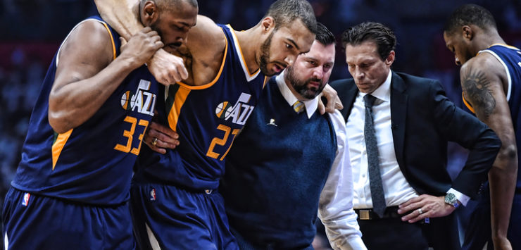 Gobert Out 4-6 Weeks for Jazz
