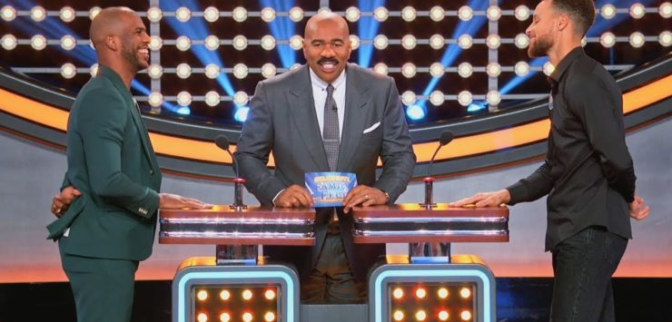 Paul, Curry on Family Feud