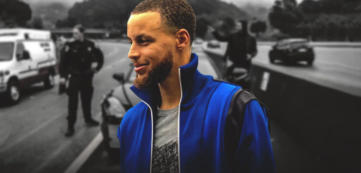 Curry Involved in Car Accident