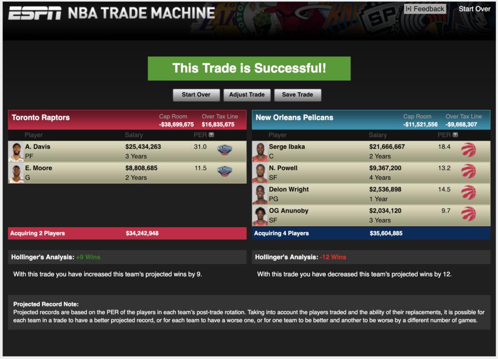 Trade for Davis